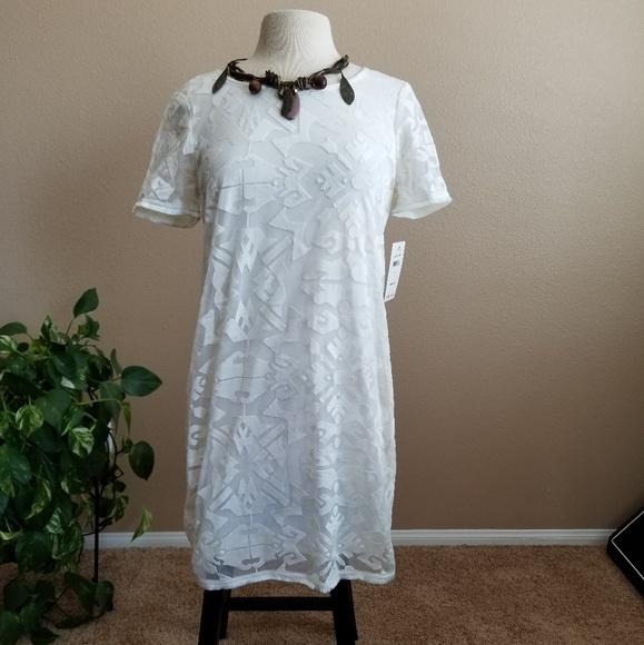 59f8a773915 Ella Moss natural white dress NWT